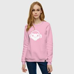 Свитшот хлопковый женский Люсио цвета светло-розовый — фото 2