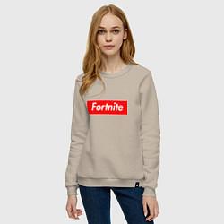 Свитшот хлопковый женский Fortnite Supreme цвета миндальный — фото 2