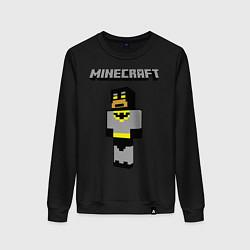 Свитшот хлопковый женский Minecraft Batman цвета черный — фото 1