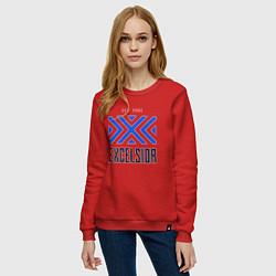 Свитшот хлопковый женский New York Excelsior цвета красный — фото 2
