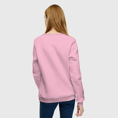 Женский свитшот Мне весело / Светло-розовый – фото 4