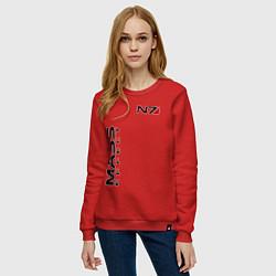 Свитшот хлопковый женский MASS EFFECT N7 цвета красный — фото 2