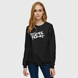 Свитшот хлопковый женский My Chemical Romance spider на спине цвета черный — фото 2