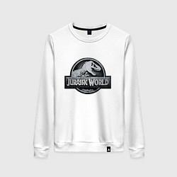 Свитшот хлопковый женский Jurassic World цвета белый — фото 1