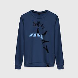 Свитшот хлопковый женский The Beatles: break down цвета тёмно-синий — фото 1
