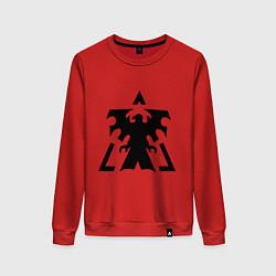 Свитшот хлопковый женский Старкрафт Терраны цвета красный — фото 1