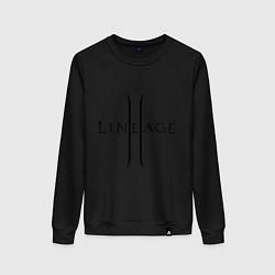 Свитшот хлопковый женский Lineage logo цвета черный — фото 1
