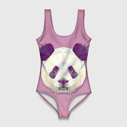 Купальник-боди 3D женский Геометрическая панда цвета 3D — фото 1