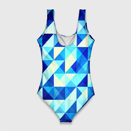 Женский купальник-боди Синяя геометрия / 3D – фото 2