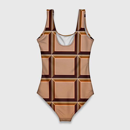 Женский купальник-боди Шоколад / 3D – фото 2