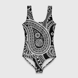 Купальник-боди 3D женский Paisley цвета 3D — фото 1