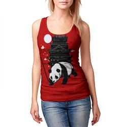 Майка-безрукавка женская Panda Warrior цвета 3D-красный — фото 2