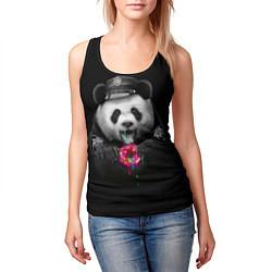 Майка-безрукавка женская Donut Panda цвета 3D-черный — фото 2