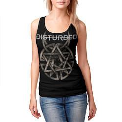 Майка-безрукавка женская Disturbed Logo цвета 3D-черный — фото 2