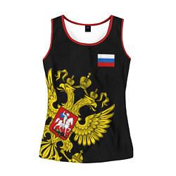 Женская майка без рукавов Флаг и Герб России