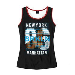 Майка-безрукавка женская New York: Manhattan 86 цвета 3D-красный — фото 1