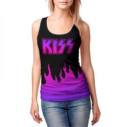 Майка-безрукавка женская KISS цвета 3D-черный — фото 2