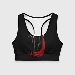 Топик спортивный женский Лунный убийца цвета 3D-принт — фото 1