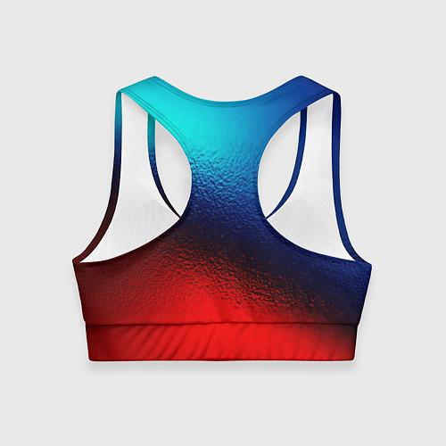 Женский спортивный топ Синий и красный / 3D – фото 2