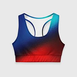 Женский спортивный топ Синий и красный