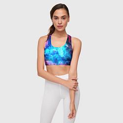 Топик спортивный женский Голубая вселенная цвета 3D — фото 2