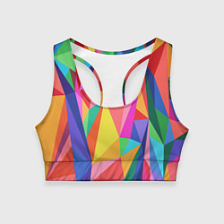 Топик спортивный женский Радуга цвета 3D — фото 1