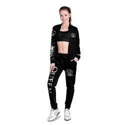 Олимпийка женская QUEEN цвета 3D-черный — фото 2