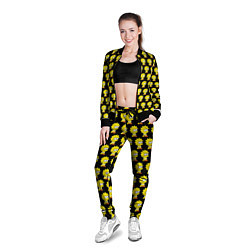 Олимпийка женская Лиза Симпсон: узор цвета 3D-черный — фото 2
