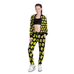 Олимпийка женская Барт Симпсон: узор цвета 3D-черный — фото 2