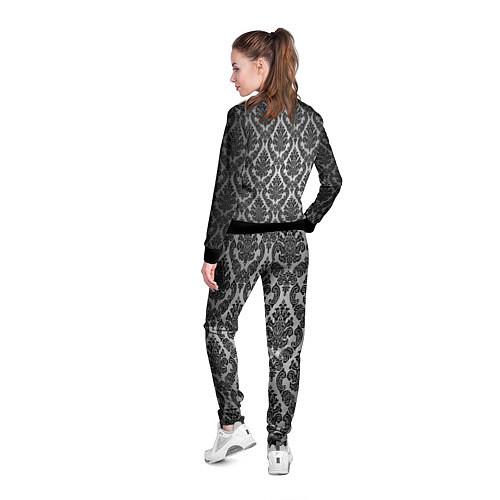Женская олимпийка Гламурный узор / 3D-Черный – фото 4