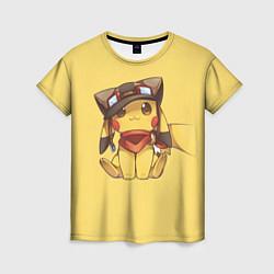 Футболка женская Pikachu цвета 3D — фото 1