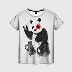 Футболка женская Рок-панда цвета 3D — фото 1