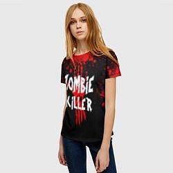 Футболка женская Zombie Killer цвета 3D — фото 2