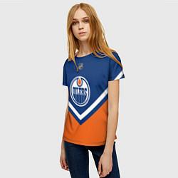 Футболка женская NHL: Edmonton Oilers цвета 3D-принт — фото 2