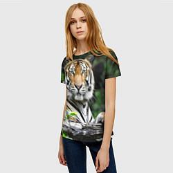 Футболка женская Тигр в джунглях цвета 3D — фото 2