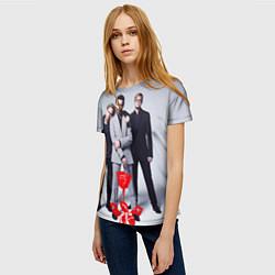 Футболка женская Depeche Mode: Red Flower цвета 3D — фото 2