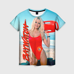 Футболка женская Baywatch: Pamela Anderson цвета 3D-принт — фото 1