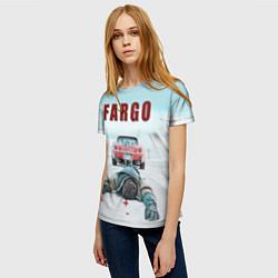 Футболка женская Fargo Racing цвета 3D — фото 2