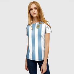 Футболка женская Сборная Аргентины: ЧМ-2018 цвета 3D-принт — фото 2