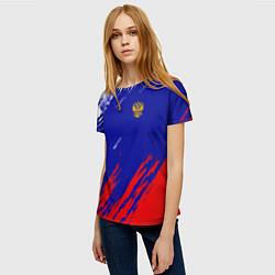 Футболка женская RUSSIA SPORT цвета 3D — фото 2