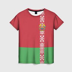 Футболка женская Беларусь цвета 3D — фото 1
