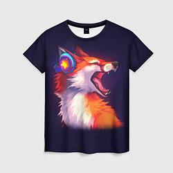 Футболка женская Disco Fox цвета 3D-принт — фото 1