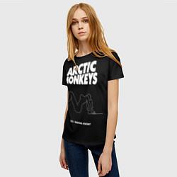 Футболка женская Arctic Monkeys: Do i wanna know? цвета 3D — фото 2