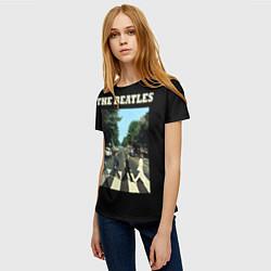 Футболка женская The Beatles: Abbey Road цвета 3D-принт — фото 2