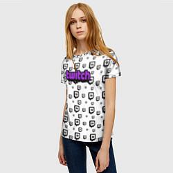 Футболка женская Twitch Online цвета 3D-принт — фото 2