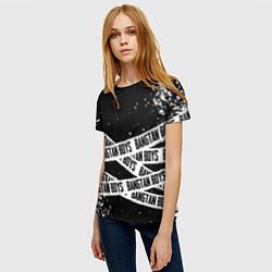 Женская 3D-футболка с принтом BTS, цвет: 3D, артикул: 10179904903229 — фото 2