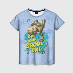 Футболка женская Get your Groot on! цвета 3D — фото 1