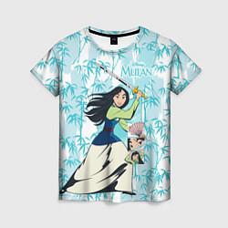 Футболка женская Mulan with a Sword цвета 3D-принт — фото 1