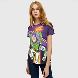 Футболка женская Buzz Lightyear цвета 3D — фото 2