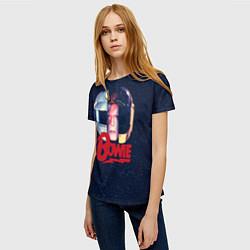 Футболка женская Bowie Space цвета 3D — фото 2